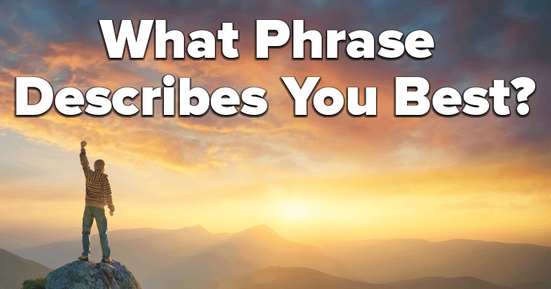 What Phrase Describes You Best?
